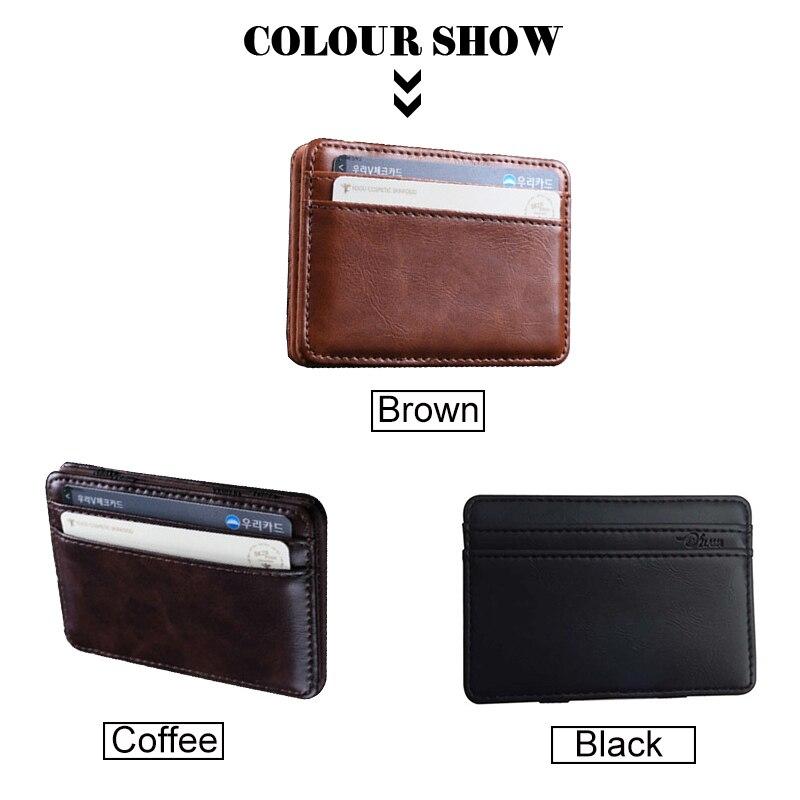 NEW Men Lather Wallet Credit Card Holder Cash Holder Black Colour