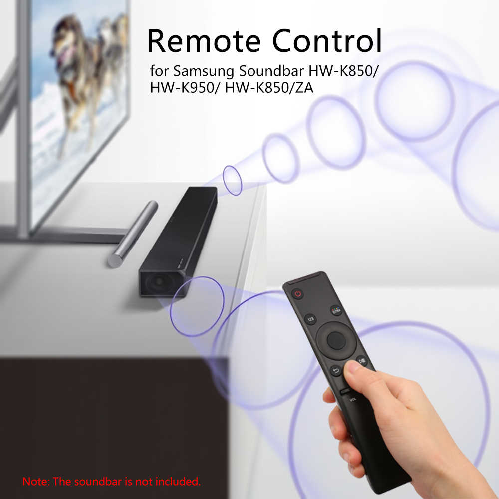 Wireless IR Remote Control AH59-02745A Fits for Samsung Sound Bar HW-K850  HW-K950 HW-K850/ZA Soundbars 433mhz