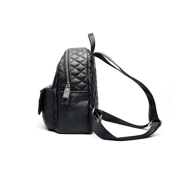 ALNEED sac à dos en cuir véritable femmes petit sac à dos pour concepteur d'école sacs de luxe femmes sacs 2019 treillis de diamant Mochila - 2