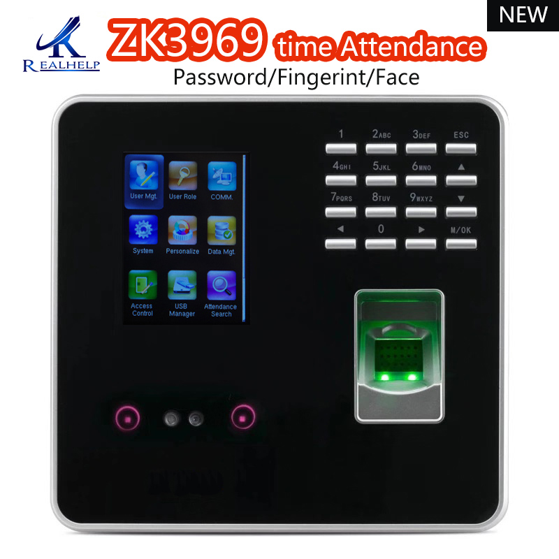 ZK3969 Face Recognition Time Attendance Zkteco Biometric Access Control 50,000 Record Network Fingerprint Attendance