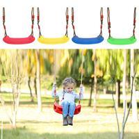 طفل أطفال ألعاب أطفال داخلي في الهواء الطلق أرجوحة حديقة مقعد U نوع قابل للتعديل حبل حلوى بلاستيكية اللون Droshipping-في أرجوحات باشيو من الأثاث على