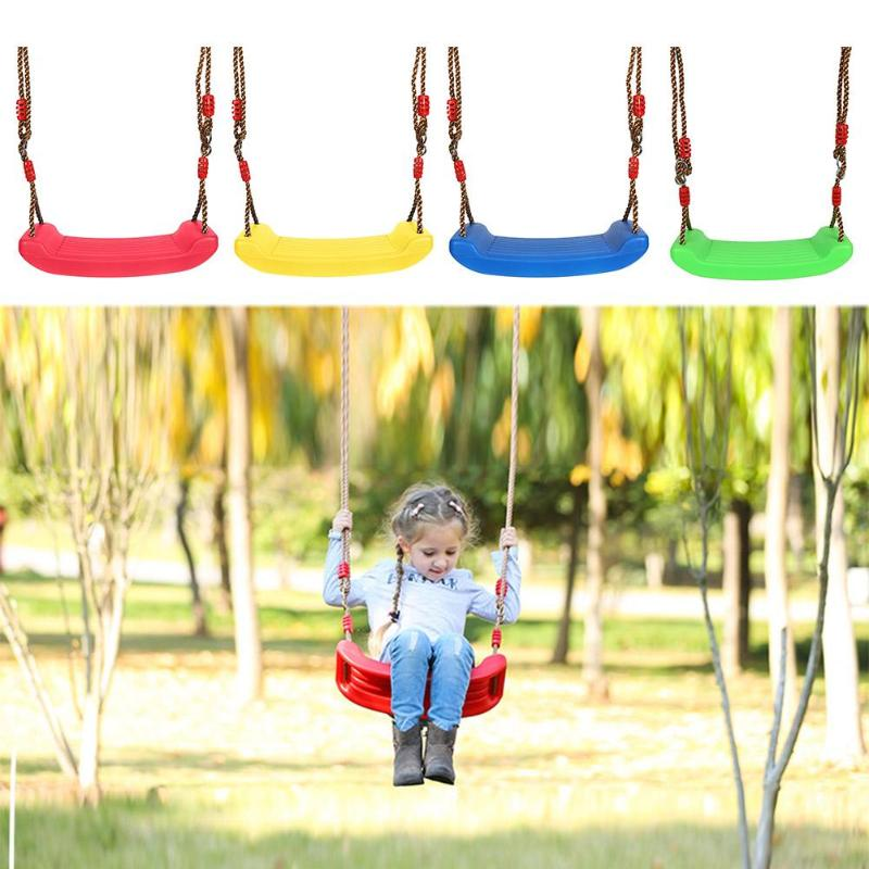 Baby Kids Children Toy Indoor Outdoor Garden Swing Seat U Type Adjustable Rope Plastic Candy Color Droshipping