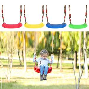 Toy Seat Garden-Swing Outdoor Kids Children Adjustable-Rope U-Type Plastic Candy-Color