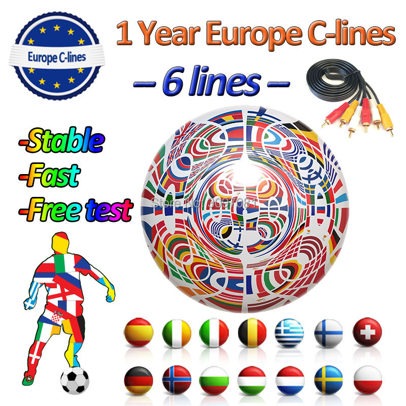 Digital HD Europe Cline For 1 Year Spain For DVB-S2 Satallite TV Receiver GTmedia V8 Nova CCam Spain
