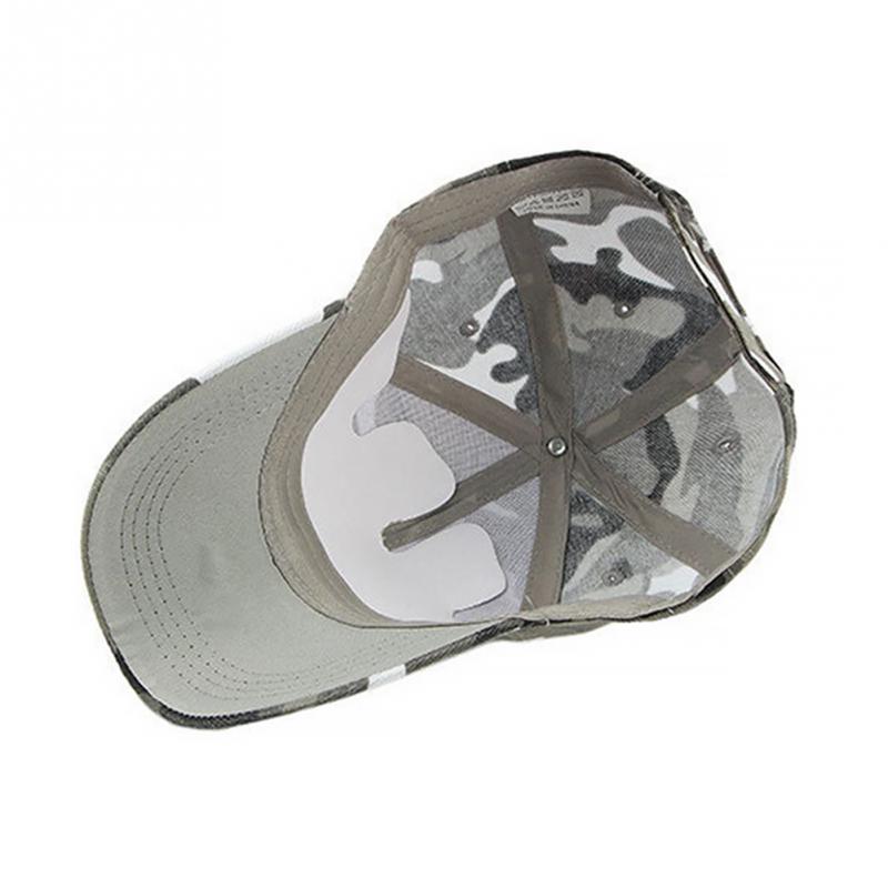 New Fashion Adjustable Unisex Army Camouflage Camo Cap Casquette Hat Baseball Cap Men Women Casual Desert Hat #H1020 5
