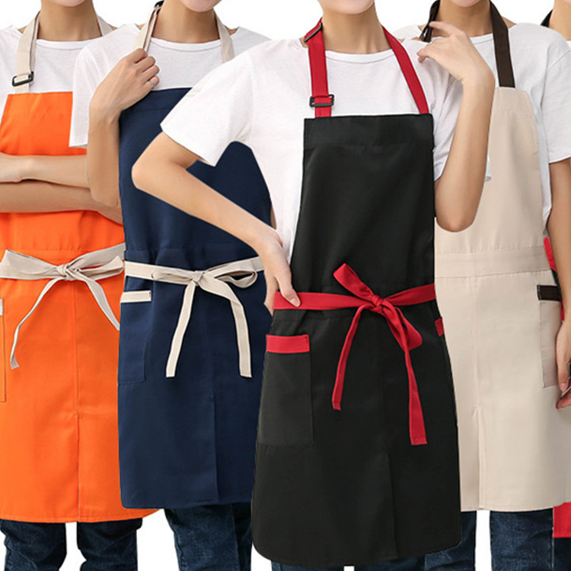 Home & Garden 6colors Polyester Cotton Apron Waitress Barista Restaurant Bistro Baker Catering Uniform Florist Manicure Gardener Work Wear D7 Household Cleaning Protections