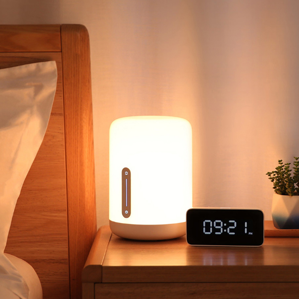 Xiaomi Smart LED Night Light Bedside Lamp Mijia Bedside Lamp Smart APP Control Touch Switch RGB