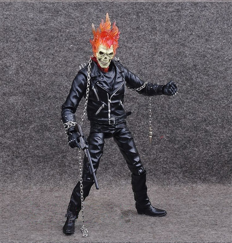 Marvel Ghost Rider Johnny Blaze Action Figure Toys Collectible Model Doll 23CM
