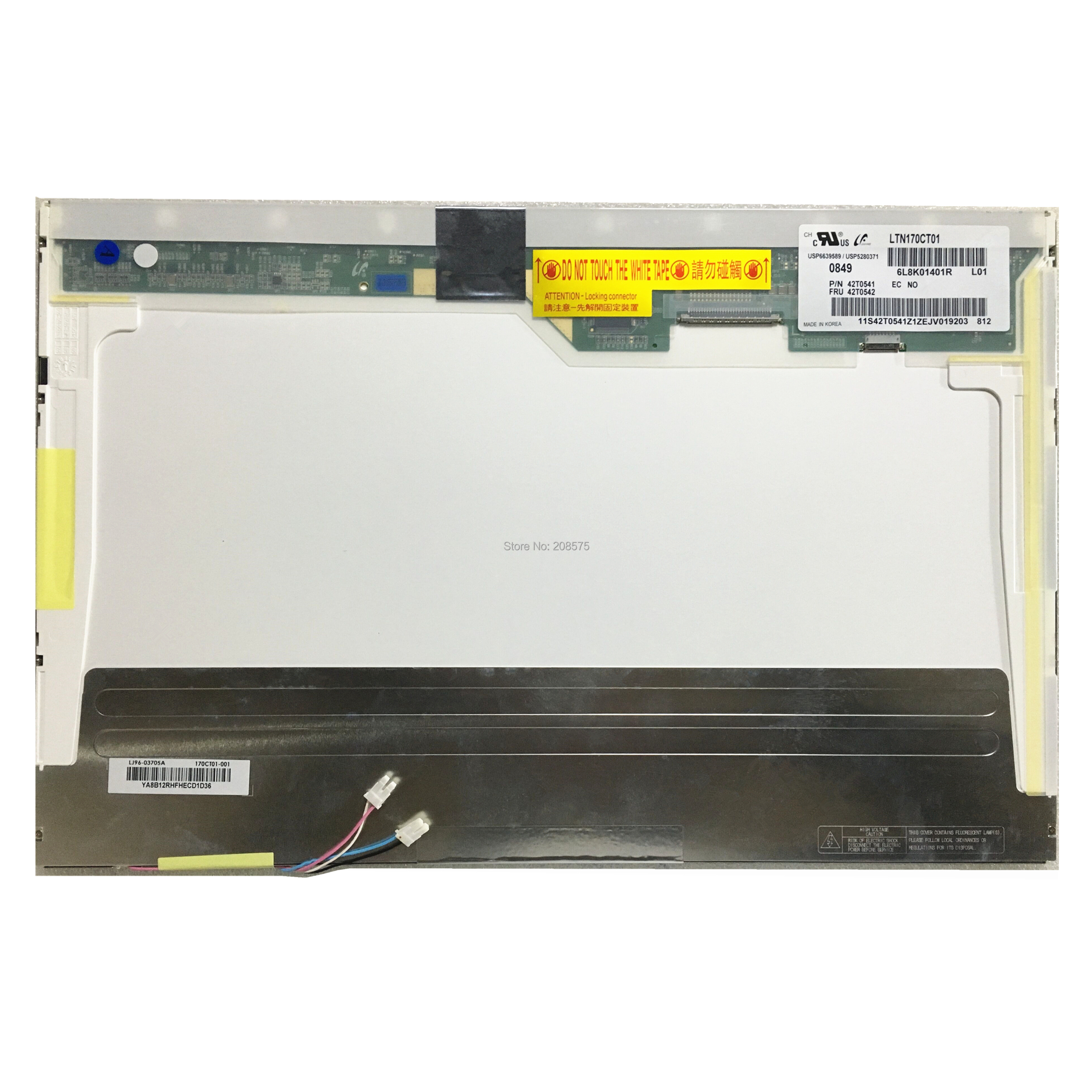Free Shipping LTN170CT01 LP171WU2 B170UW02 2 CCFL 30 PIN LCD Display Laptop Screen Panel