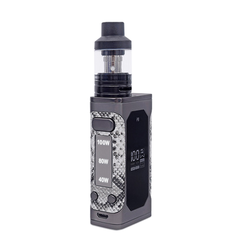 Kit vaporisateur cigarette électronique 100 W batterie 2000 Mah intégrée avec afficheur Led GRAN Kit purge vapeur électronique Narguilé