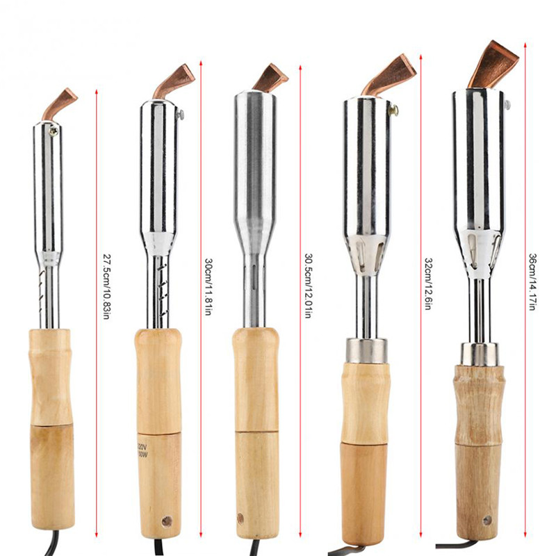 220V Electric Soldering Iron High Power Chisel Tip Soldering Iron Chisel Tip Wood Handle 75W 100W 150W 200W 300W