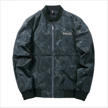 2019 New Fashion Brand Clothing Bomber Jacket Men Casual Camouflage Windbreaker Mens Coat Mandarin Collar Men Jacket