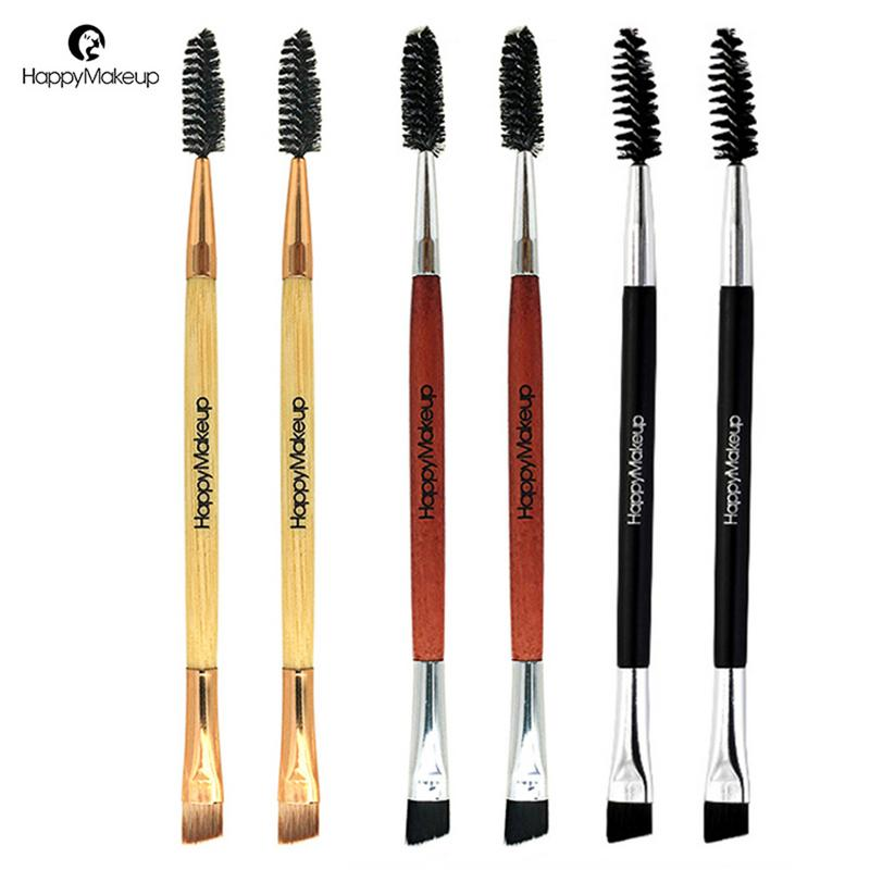 New Women's Fashion 1pc Eyebrow Brush Single Double Screw Eyelash Brush Bevel Makeup Brush Tools Pincel Maquiagem