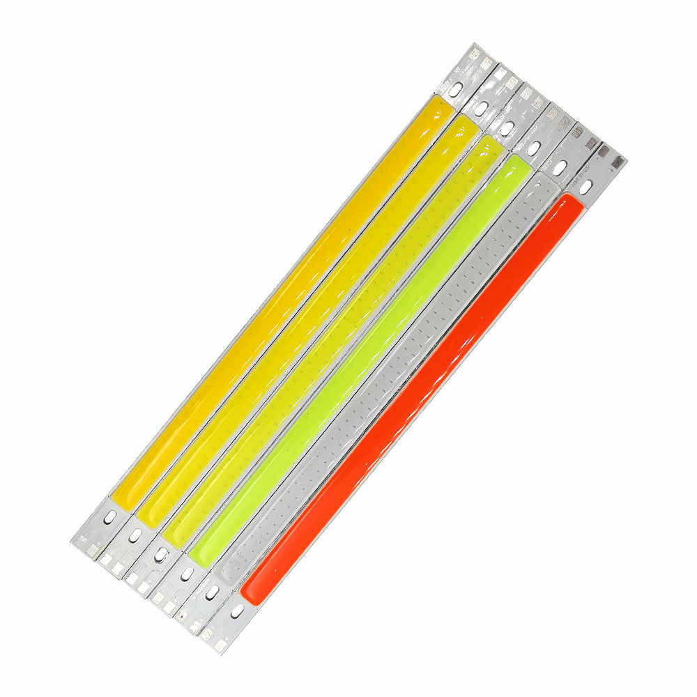 12V LED Lights for Car Lighting Decoration Lamps DIY 10W 1000LM 20CM LED Bar Light COB Bulb Blue Green Red Warm Cold White Color