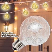 все цены на E27 Light Bulb 0.8W 110-240V Warm White Copper Wire LED Light String Bulb LED Lamp Bulb for Home Bar Hall Decoration онлайн