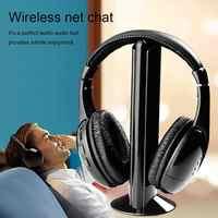2019 Новое поступление 5 в 1 Беспроводные наушники беспроводные РЧ микрофон для ПК ТВ DVD CD MP3 MP4 беспроводные наушники