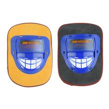 Welding Helmet Leather Welding Hood Head-mounted Auto Dimming Welding Helmet Face Mask