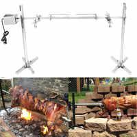 15 W AU Camping en plein air électrique automatique barbecue gril rôtissoire moteur rôti branche métal broche rôtissoire tige charbon de bois porc poulet