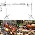 15 W AU al aire libre Camping eléctrico barbacoa automática parrilla Rotisserie Motor asar rama Metal asar asador varilla carbón cerdo pollo