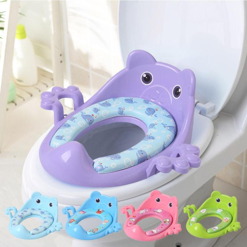 Baby Potty Seat With Armrest Safety Kids Toilet Training Potties Seats Infant Removable Toilet Chair Cushion Urinal Seat Ring