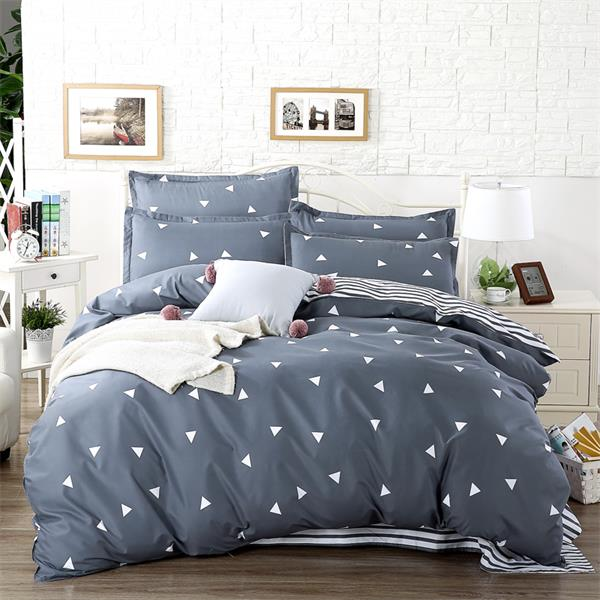 wholesale quality blue Pink Purple comforter Bedding Set King Size Flaming duvet cover Set+flat bed linen+Pillowcase