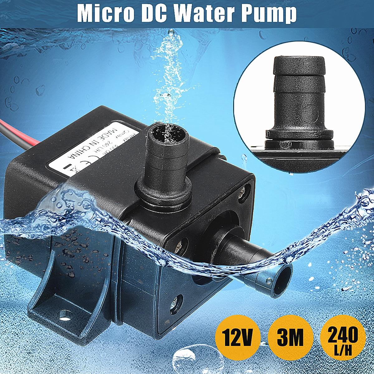 Sanitär 12 V Dc Bürstenlosen Motor Tauch Pumpe Elektrische Mini Wasser Umwälzpumpe Für Hydrokultur Medizinische Kühlung 4,8 W 240l/ H 3 Meter