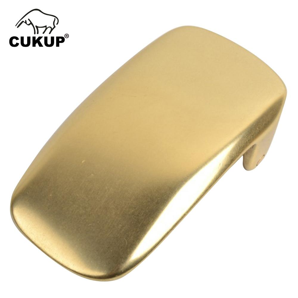 CUKUP 30mm Design Inner Diameter Male Designer Casual Styles Solid Copper Smooth Gold Belt Buckles Man Brass Metal Men BRK055