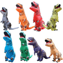 Adult Dinosaur Mascot Tyrannosaurus Rex Inflatable Costume T-Rex Clothing Carnival Halloween Festival Clothes cosplay halloween party game adult children inflatable suit tyrannosaurus rex dinosaur inflatable clothes show props