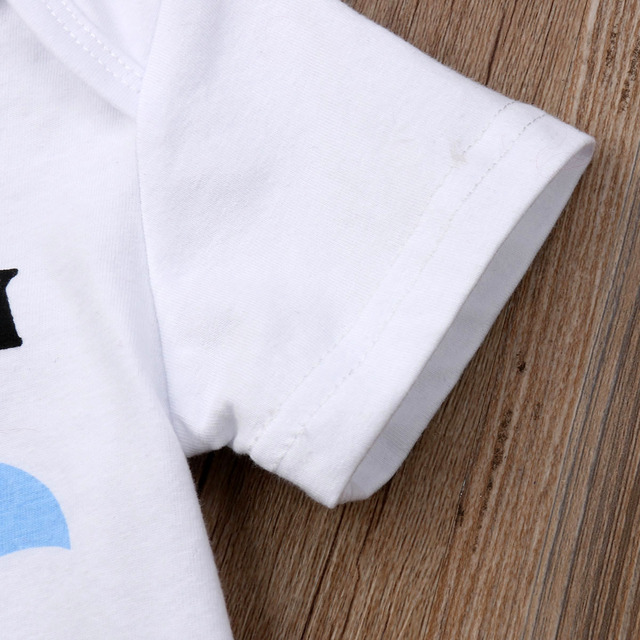 Summer Cute Newborn Toddler Baby Boys Girls Clothing Little Brother Baby Rompers Big Sister Kid T shirts Costumes 2