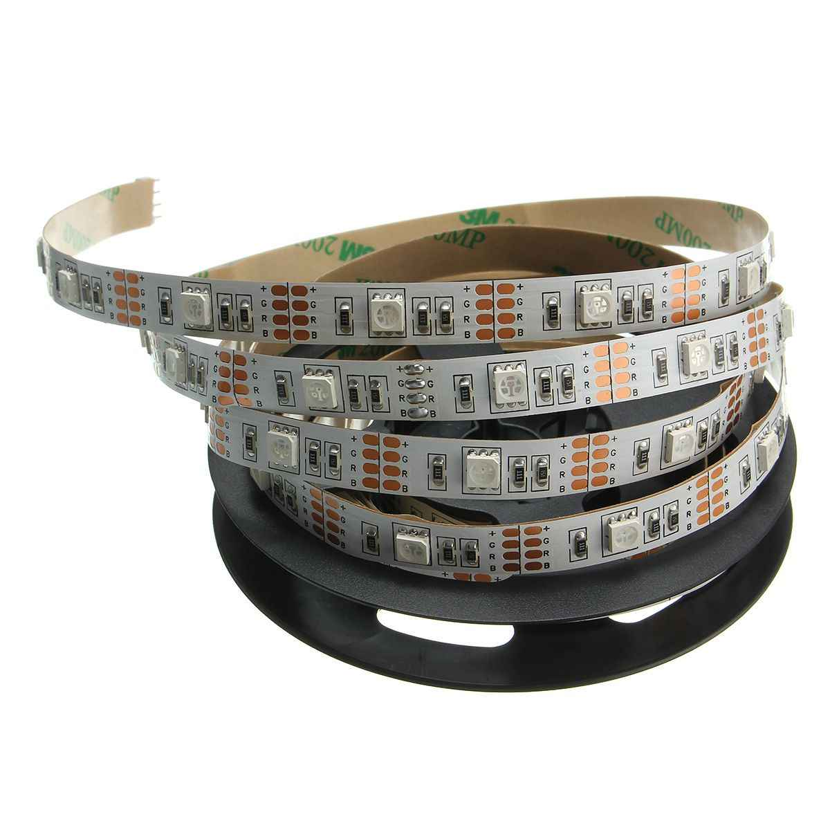 Smuxi IP20 30/50/100/150/200 Cm RGB Flexible LED Lampu Strip 5050 SMD Sting ribbon Tape TV Pencahayaan Latar Belakang