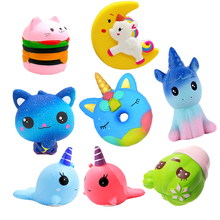 kawaii jumbo squishy unicorn wholesale squeeze toys slow rising smooshy mushy unicorn squishy pack antistress Anti-stress Gift цены