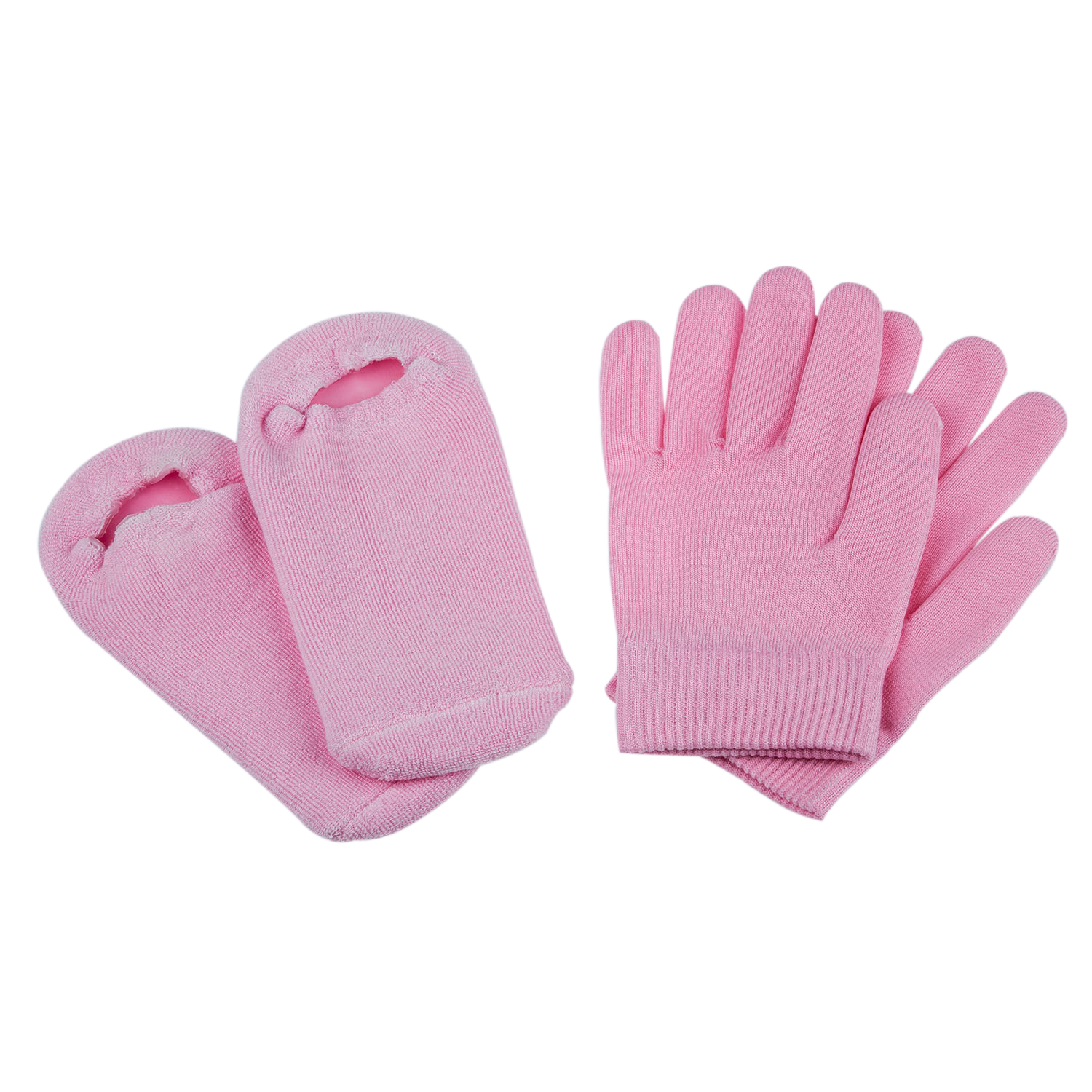 Beauty SPA Socks And Gloves Moisturizing Gel Therapy Skin Care - Pink