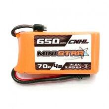 CNHL MiniStar 650mAh / 450mAh 14.8V 4S 70C Lipo Battery XT30U Plug for RC Models Multicopter Frame D