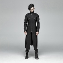 PUNK RAVE Mens Jackets and Coat Gothic Steampunk Armor Mid-length Cotton Coat