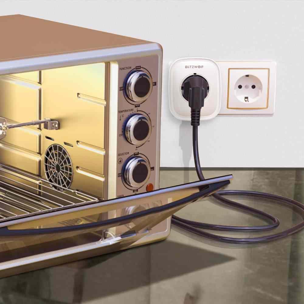 BlitzWolf BW-SHP5 WIFI inteligente casa enchufe EU 2.1A Dual puertos USB 16A trabajo con Amazon Alexa Asistente de Google IFTTT Tuya APP