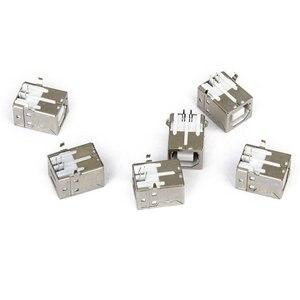 Image 2 - Lote de 6 pces substituição usb conector soquete tipo b fêmea ângulo direito