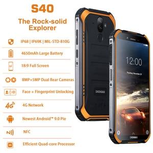 "Image 2 - DOOGEE S40 לייט NFC הסלולר מוקשח עמיד הלם נייד טלפון סלולרי אנדרואיד 9.0 4G smartphone 5.5 ""MTK6739 Quad Core טלפונים"
