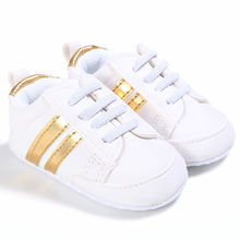Kids Baby Unisex Crib Shoes Lace up Soft Sole Comfort PU Casual Prewalker Baby Shoes
