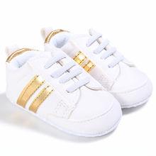 Kids Baby Unisex Crib Shoes Lace up Soft Sole Comfort PU Cas