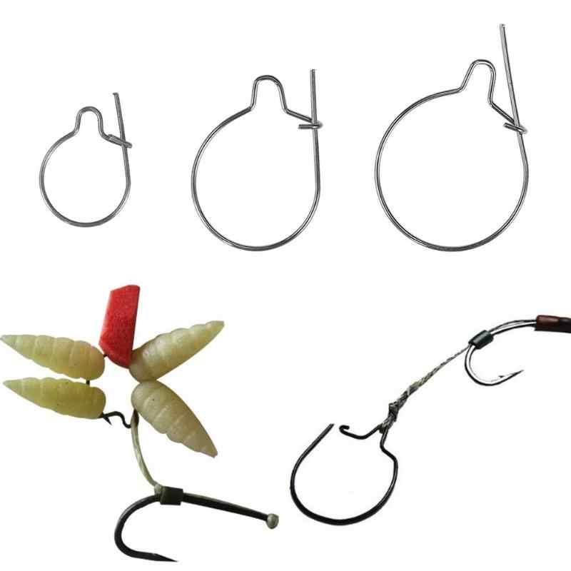 100 шт./компл. DIY Рыбалка Maggots клип для приманки кольцо установки крюк терминал снасти Chub Rudd Maggots клип Рыбалка Инструменты