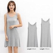 Thread cotton dress female solid sleeveless bottoming summer rendering vest women