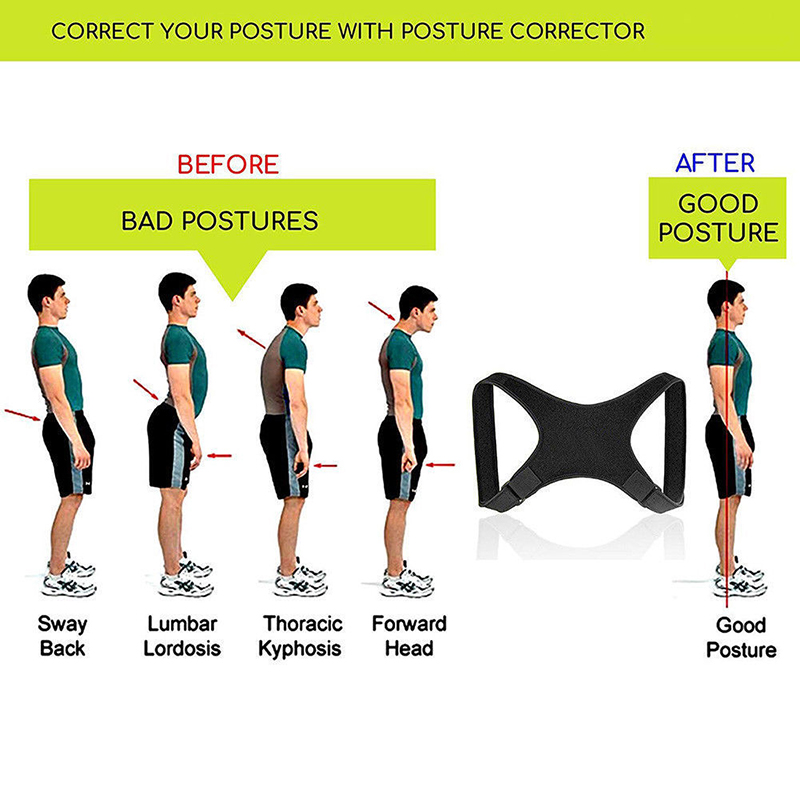 Adjustable Back Posture Corrector Prevents Slouching Shoulder Correction Brace Belt Lumbar Brace Support De Espalda Toiletry Kit