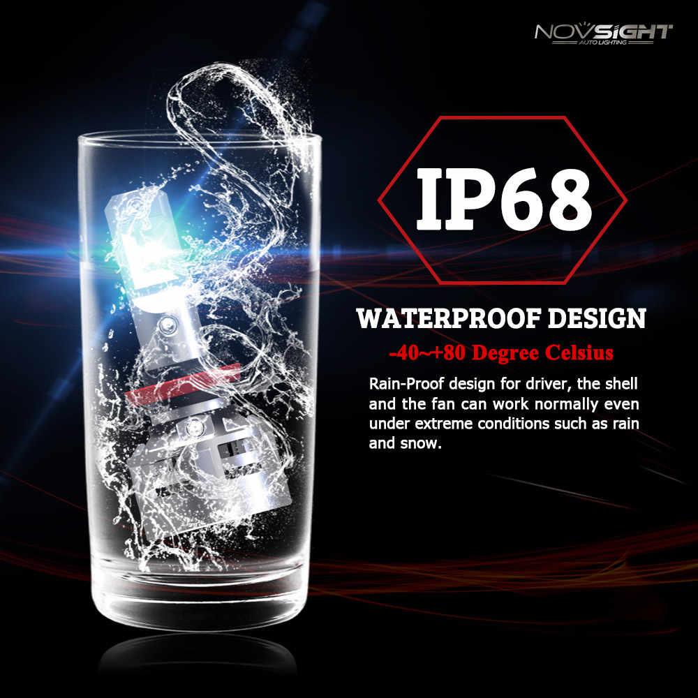 NOVSIGHT H7 LED H4 H11 HB3 9005 9006 HB4 60W 10000LM 6500K CSP LED Car Headlight Front Fog Light Bulb Automobiles Headlamp 12V