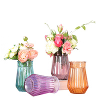 Home Decoration Glass Vas Tower Vase For Office Decoration Photo Prop Fashion Glass Bottle Green Plant Ceramic Flower Vases