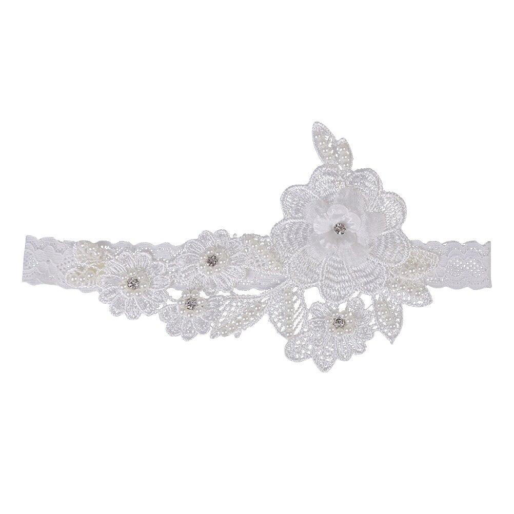 1 Pc Westlichen Hochzeit Braut Strumpfband Strass Elastische Braut Blume Strumpfband Gürtel Fuß Decor