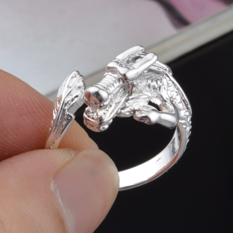 Top Quality Silver Hot Sale Silver Men's Jewelry New Creative Nobel Dragon Head