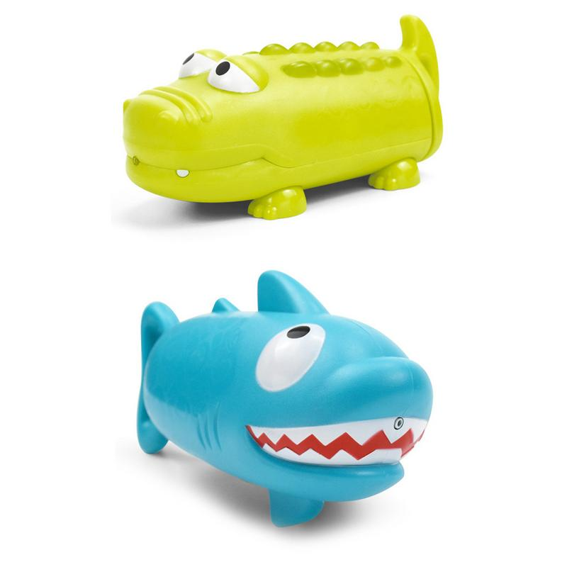 Children's Pumping Water Cannon Toy Crocodile Shark Shape Summer Beach Outdoor Swimming Pool Game Playing Water Toys Water Guns