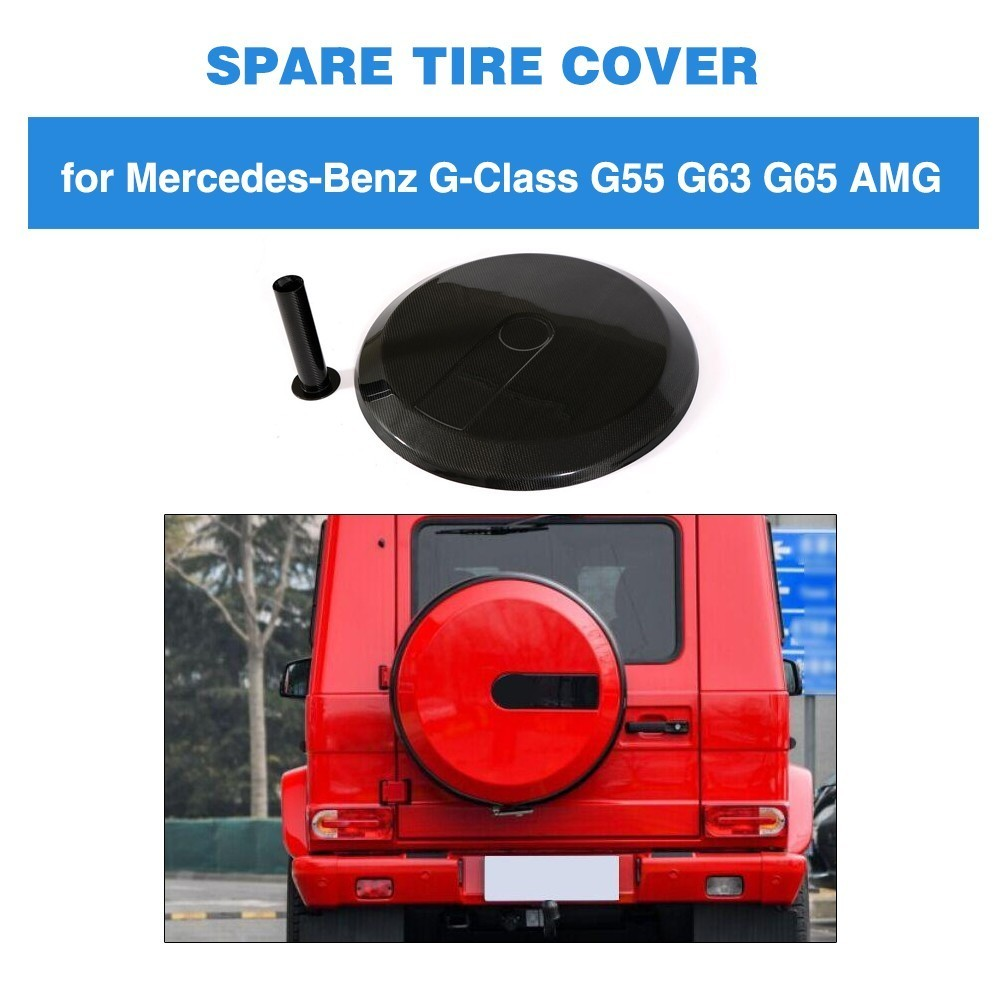 Carbon Fiber Car Spare Tire Cover for Mercedes Benz W463 G55 G65 G63 BODY KIT 08 14 G Class G500