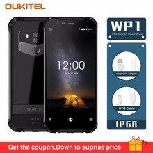 Oukitel Wp1 Ip68 Водонепроницаемый 4 gb 64 gb 5000 mah Mtk6763 Octa Core 5,5 «Hd + 18:9 Дисплей Беспроводной зарядки tri-доказательство смартфон