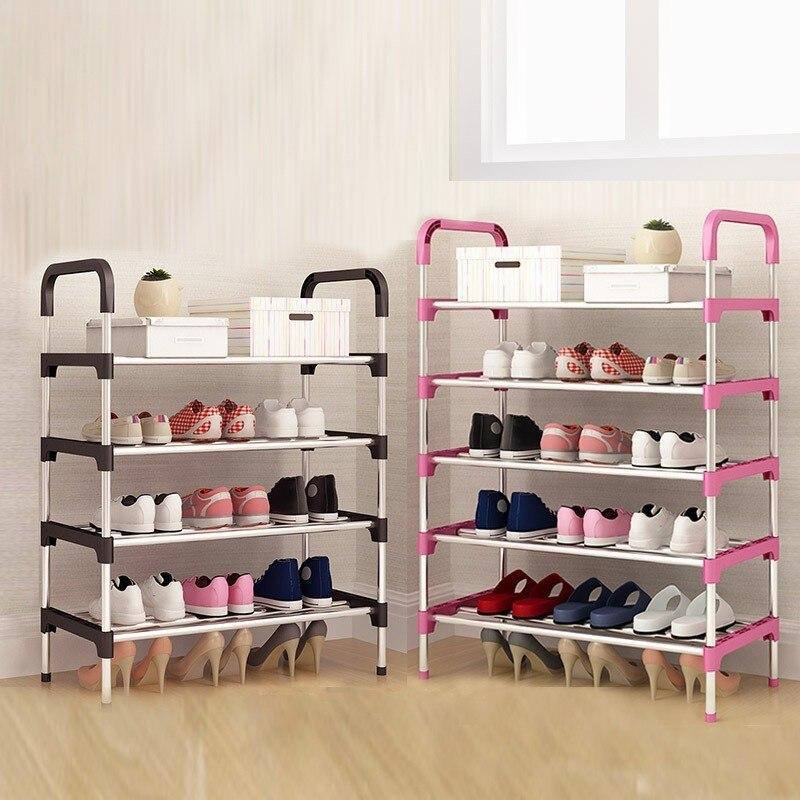Многослойный металлический сборочный шкаф для хранения обуви минималистичный современный полки для обуви гостиная прихожая мебель Organizador ...